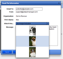 Email Pet Info to Potential Adopter with one click